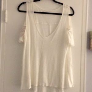 New with tags free people cold shoulder tee